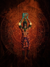 Cover art for Mayan Blue. Published by Sinister Grin Press.